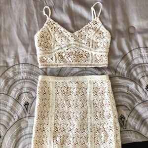 Kendall and Kylie two piece top and skirt